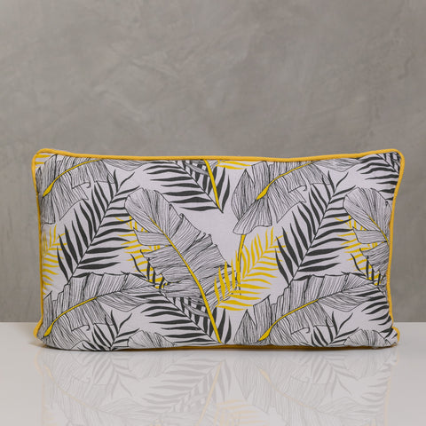 "12""x20"" Naturale Pillow - Yellow/Gray Palms"