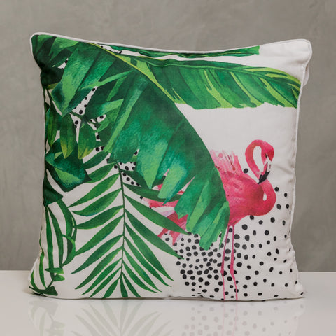 "18""x18"" Naturale  Pillow - Flamingo"