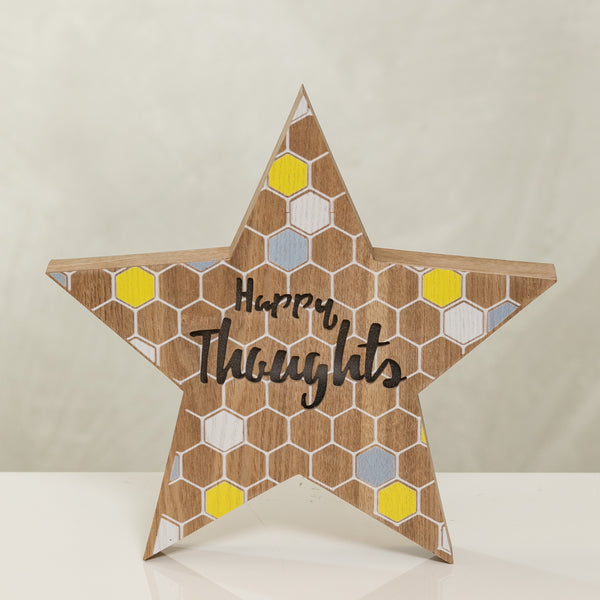 "12"" Light Box Star - Happy Thoughts by Liz Designs"