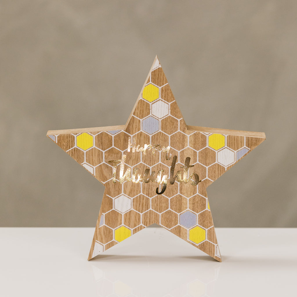 "12"" Light Box Star - Happy Thoughts by LB"