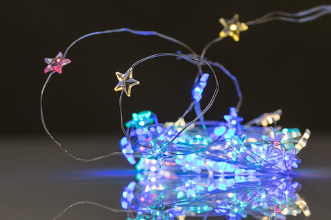 50L LED Star Lights - Batterry Operated - Multicolor
