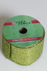 "2.5"" x 25Ft Glittered Ribbon - Apple Green"