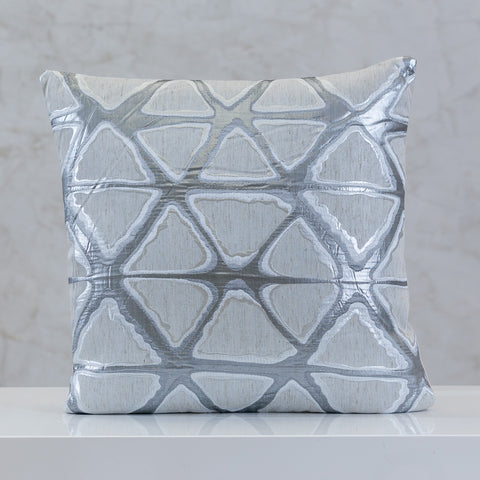 "18"" x 18"" Urbane Triangles Pillow - White Comb."