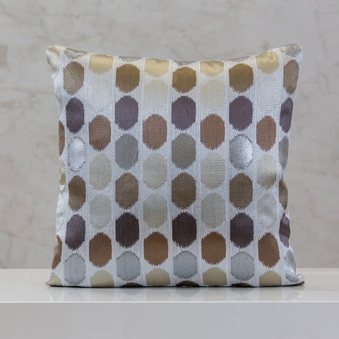 "18"" x 18"" Urbane Dots Pillow - Purple Comb."
