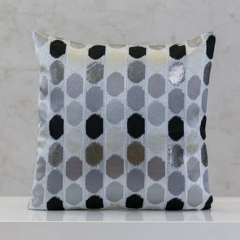 "18"" x 18"" Urbane Dots Pillow - Gray Comb."