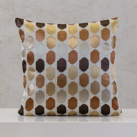 "18"" x 18"" Urbane Dots Pillow - Brown Comb."