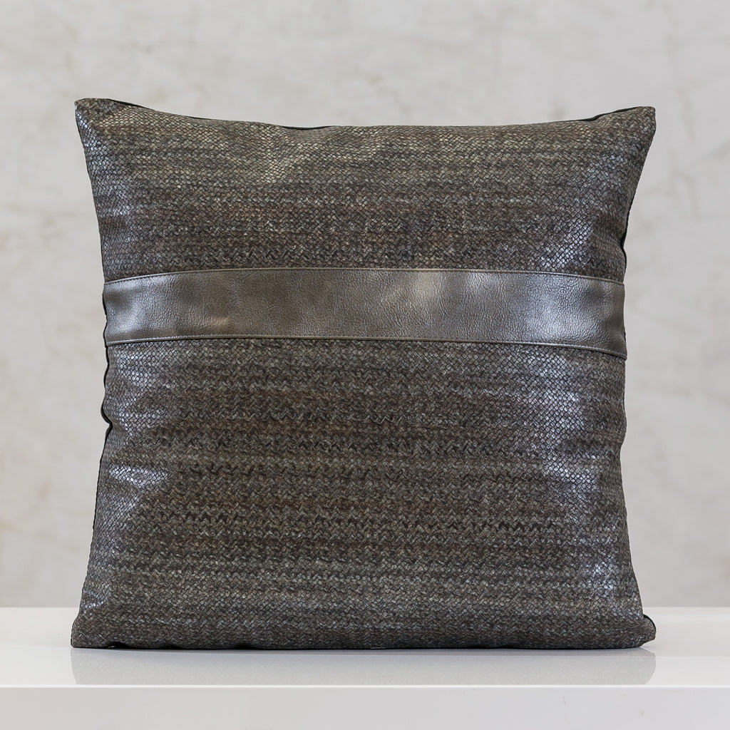 "16.5"" x 16.5"" Urbane Ligne Pillow - Gray"