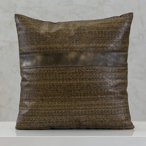 "16.5"" x 16.5"" Urbane Ligne Pillow - Lt. Coffee"