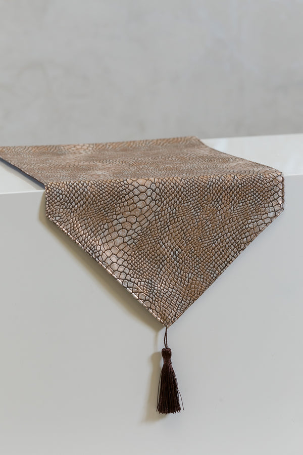 "12"" x 72"" Urbane Snakeskin Table Runner - Copper - Casa Febus - Home • Design"