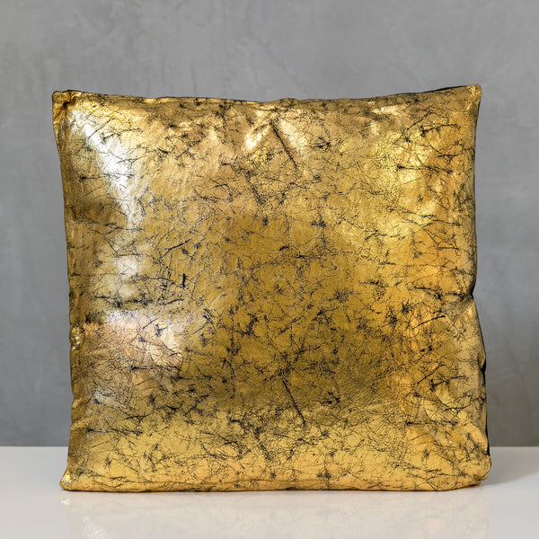 "18"" x 18"" Gold/Black Metallic Pillow - Sparkle Collection"
