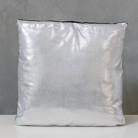 "18"" x 18"" Silver Metallic Pillow - Sparkle Collection"