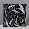 "18"" x 18"" Silver/Black Tropics Pillow - Sparkle Collection"