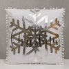 "18"" x 18"" Silver/Black Merry Christmas Pillow B - Sparkle Collection"