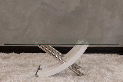 "Snazzy Coffee Table - White 49"" x 24"" x 18"" - Casa Febus - Home • Design"