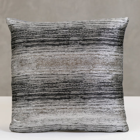 "17"" x 17"" Vogue Pillow - Charcoal/Silver"