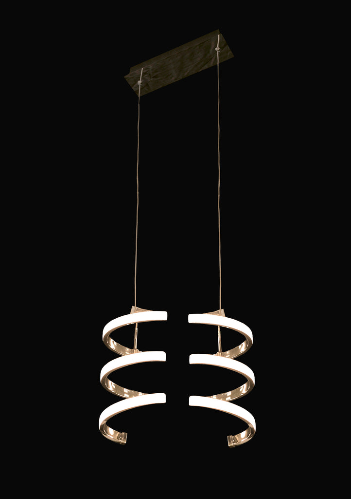 "14"" Set/2 Vertical Curly LED Lamp - Lumiere Collection"