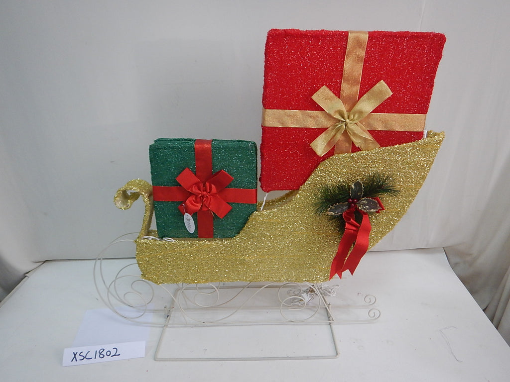 "30"" Sleigh Outdoor Decoration  with 20 Lights"