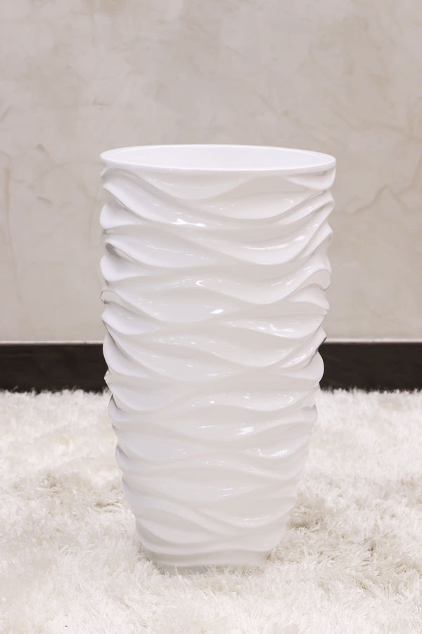 "24"" Vogue Modern Planter - White Shades"