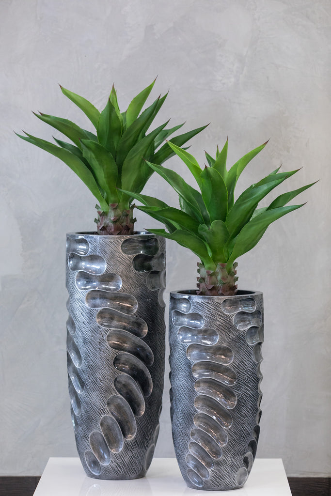 "28"" Chic SIlver Planter - Footprints"