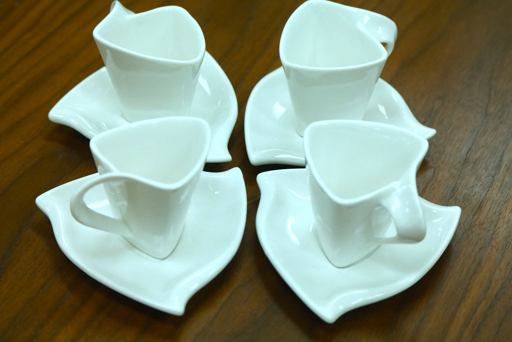 Elle Moyen Coffee Set of 4 White - Casa Febus - Home • Design
