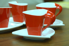 Elle Moyen Coffee Set of 4 Red - Casa Febus - Home • Design