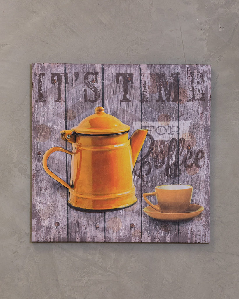 "16"" x 16"" Coffee Time Wall Decor - Neuf Pot"