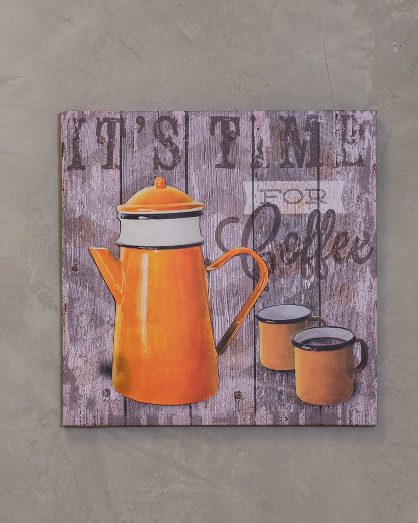 "16"" x 16"" Coffee Time Wall Decor - Vieux Pot"
