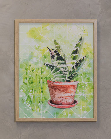 "16"" x 20"" Naturale Wall Decor - Cactus A"