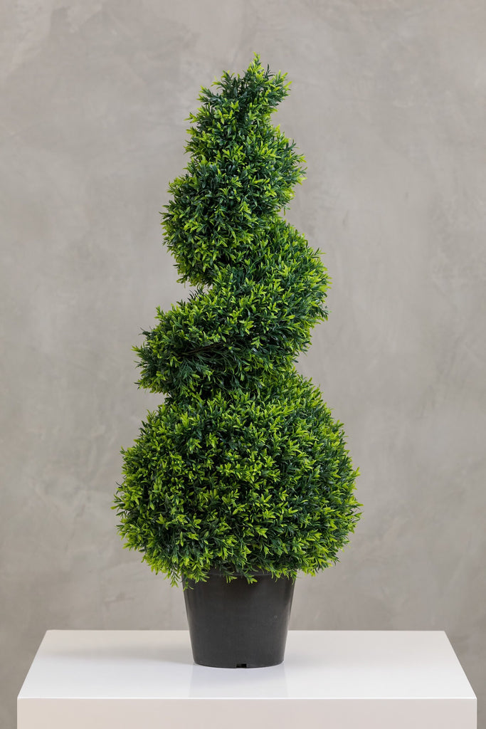 "39"" Grass Spiral Topiary in Pot"