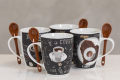 12oz Coffee Time Set/4 Mugs- Dark Roast - Casa Febus - Home • Design