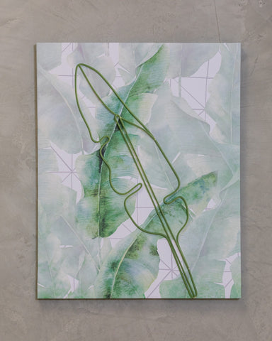 "16"" x 20"" Naturale Wall Decor - Plantain Leaves"