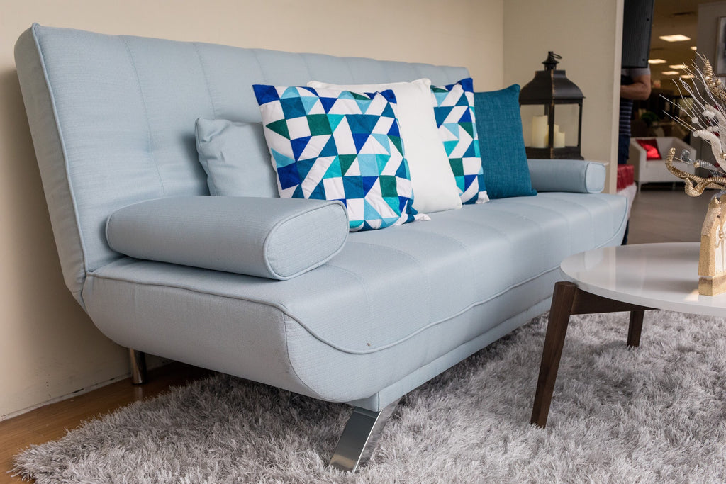 "75"" Unique Sofa Bed (Futón) - Light Blue"