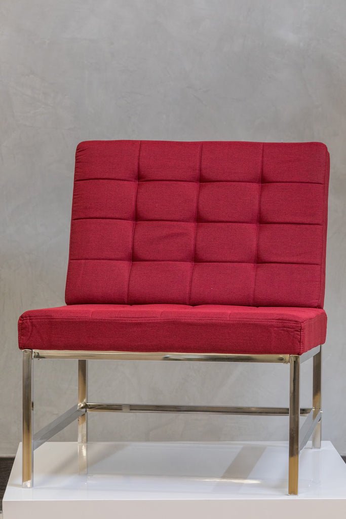 "34"" x 28"" Reflections Lounge Chair - Sangria Red"