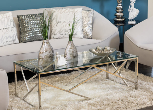"47"" x 24""  Geo Coffee Table - Miraggio Collection"