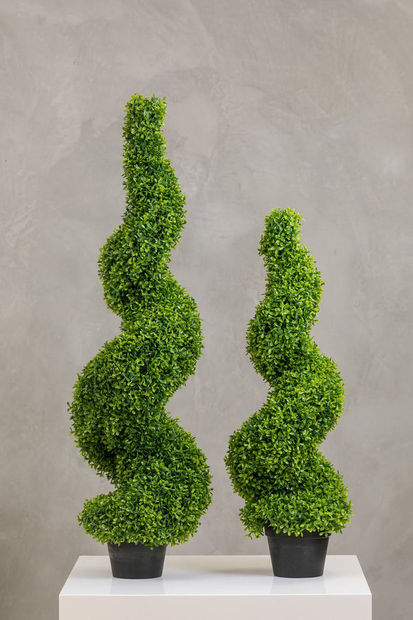"35"" Teagrass Spiral Topiary in Pot"