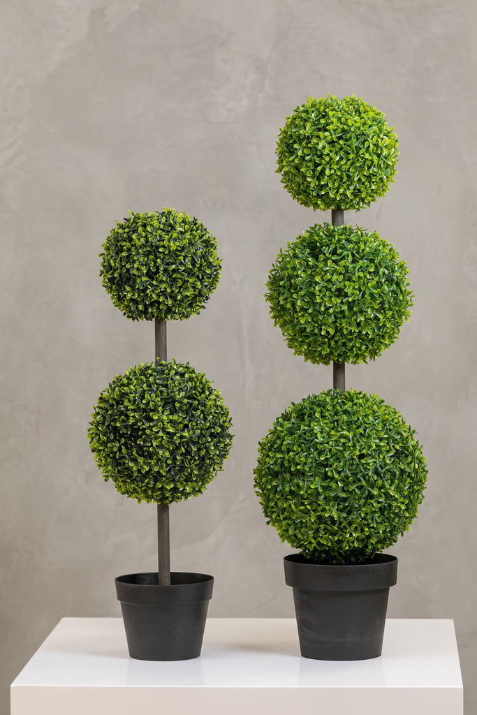 "32"" Teagrass 2 Balls Topiary in Pot"