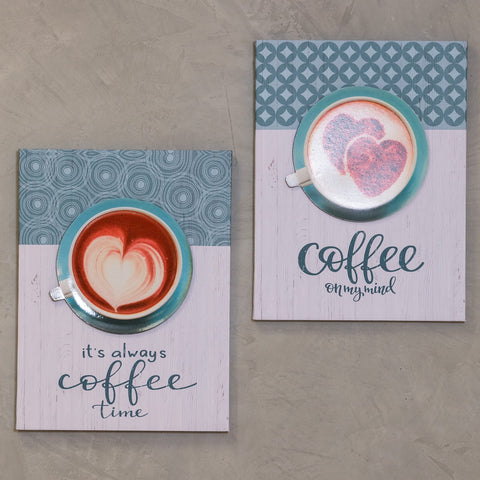 "Set of 2 12"" x 16"" Coffee Time Wall Decor - Always Coffee"