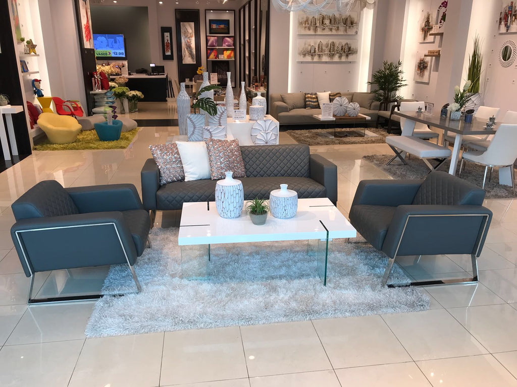 Albany Sofa Set - Charcoal Gray  (Incluye 2 Butacas + Sofá)