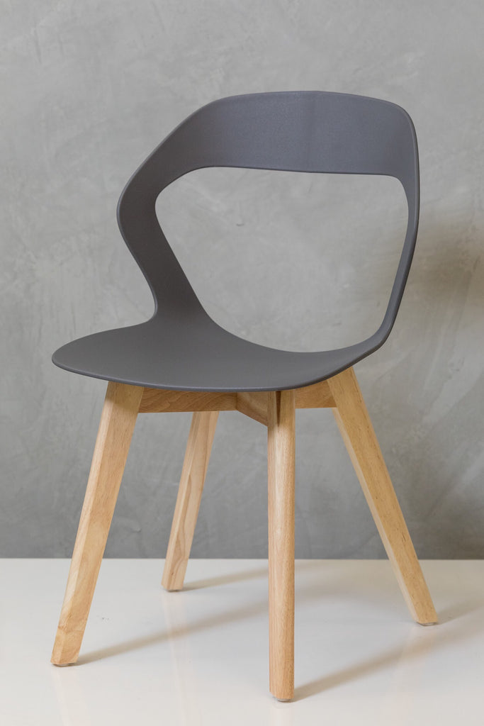 "33"" Moderni Chair - Charcoal Gray"