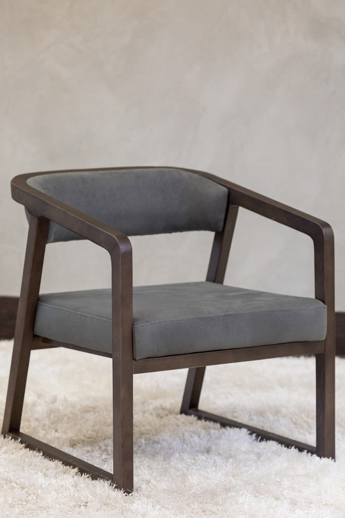 "28"" Lulu Arm Chair -  Charcoal Gray"