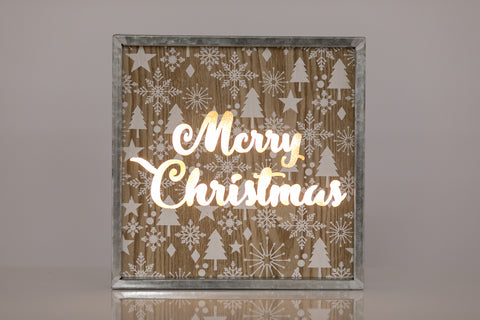 "10"" Light Box by Liz  - Merry Christmas by LB - LED Battery Operated"
