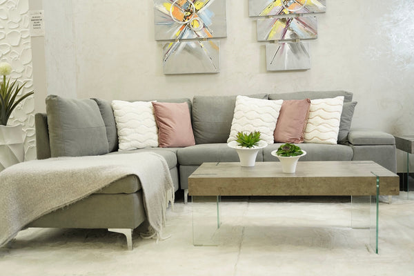 Daniele Sectional Left Side Sofa - Gray