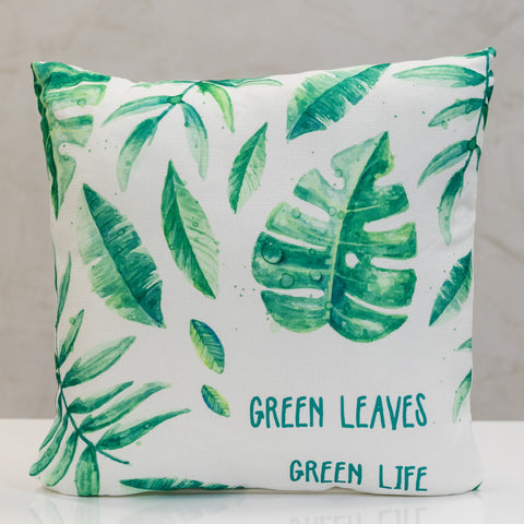 "18"" x 18"" Naturale Green Life Pillow"