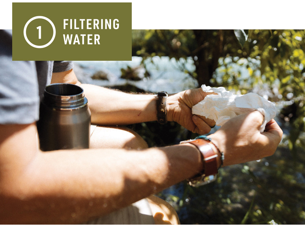Bamboo Cloth - Filtering Water