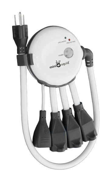 MiniSquid Surge Protector with 2 USB Outlets