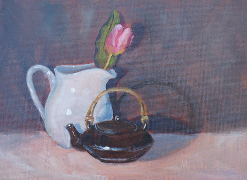 "Rapp, Maggie - ""Tulip, Pitcher and Tea Pot"""