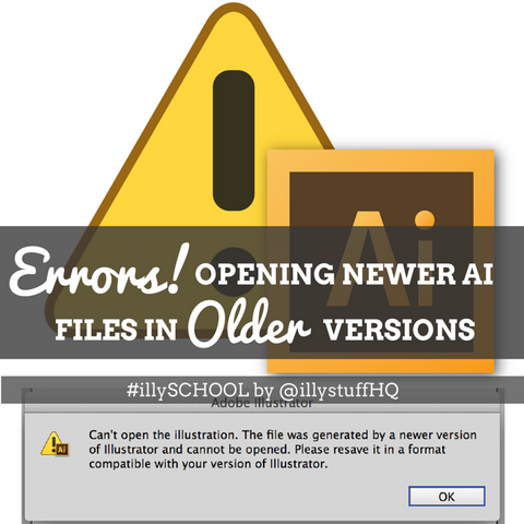 how to use adobe files with older version
