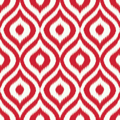 Ikat Ogee Repeating Pattern