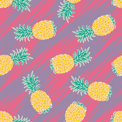 Aloha Pineapple Ikat Repeating Pattern