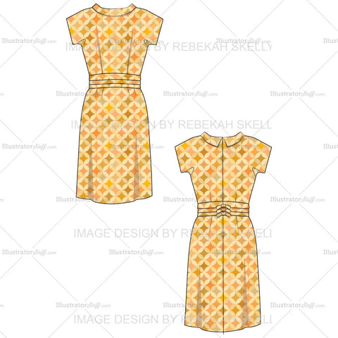 Womens Vintage 1960s Wiggle Dress